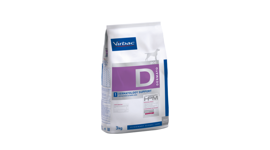 Virbac hpm diet dog dermatology support 3 kg