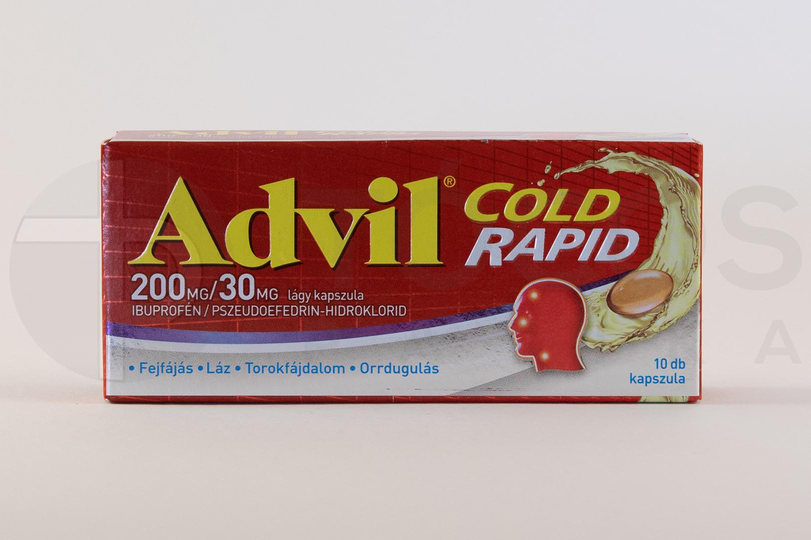 Advil Cold rapid 200 mg/30 mg lágy kapszula 10x