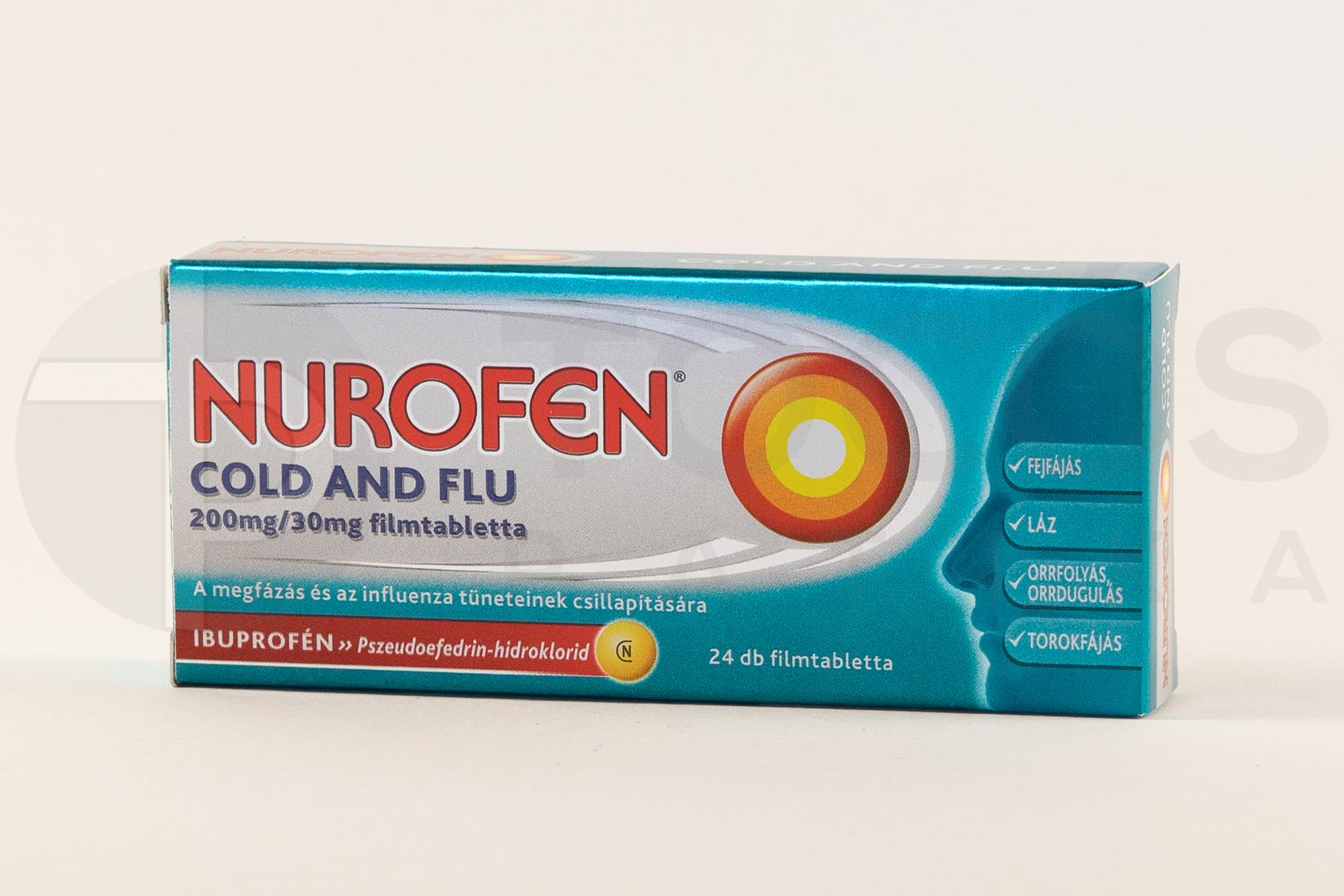 Nurofen Cold and Flu 200 mg/30 mg filmtabletta 24x