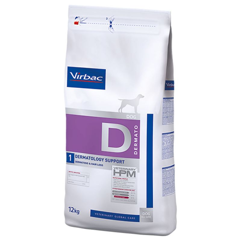 Virbac hpm diet dog dermatology support 12 kg